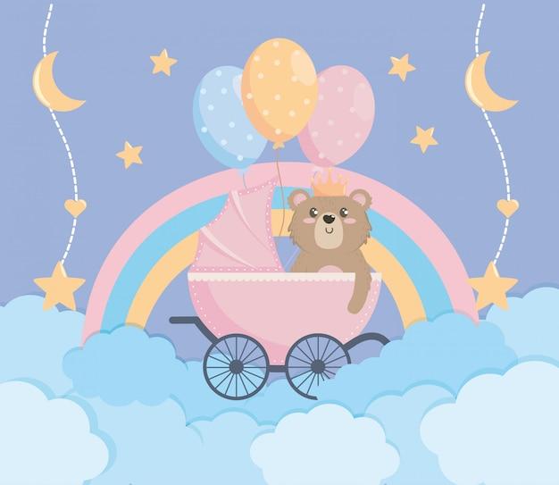Convite de cartaz de chuveiro de bebê e decoração
