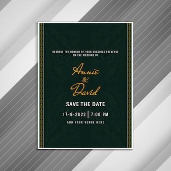 Convite de casamento abstrato design elegante cartão