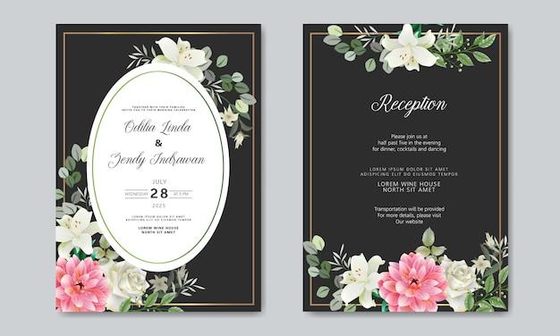Convite de casamento bonito e romântico