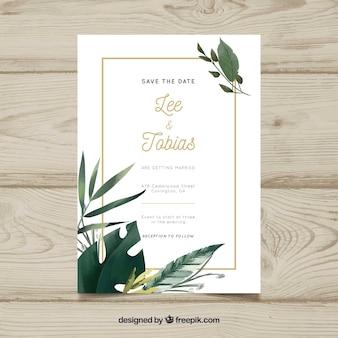 Convite de casamento bonito