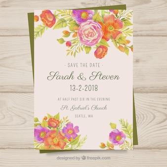Convite de casamento chic