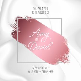 Convite de casamento com design de mármore