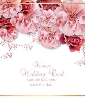 Convite de casamento com design floral