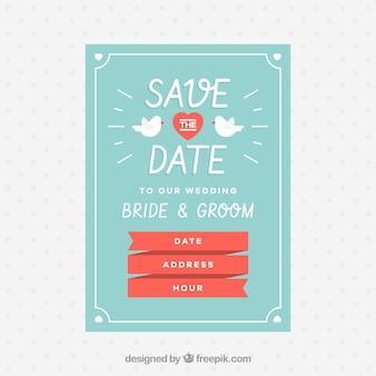 Convite de casamento com estilo divertido