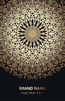 Convite de casamento com mandala design eps