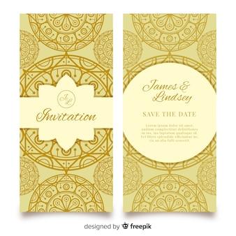 Convite de casamento com mandala