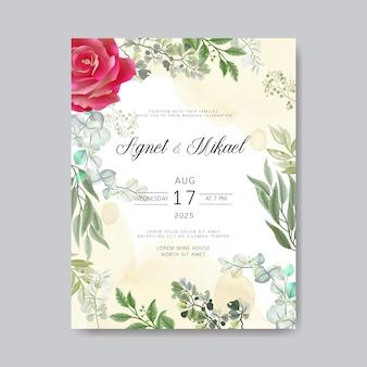 Convite de casamento com modelos florais bonitos e elegantes