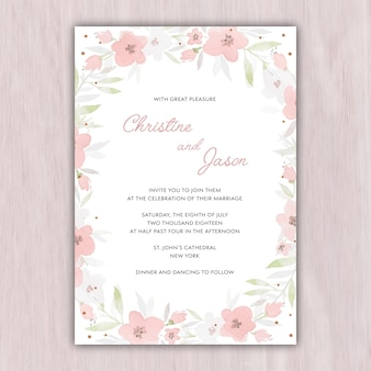 Convite de casamento de concurso em cores pastel
