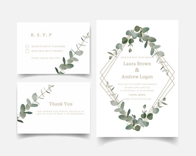 Convite de casamento de hortaliças