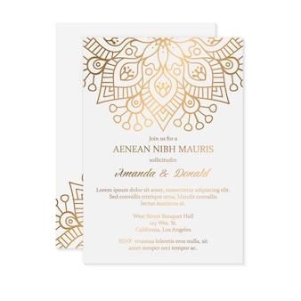 Convite de casamento de luxo