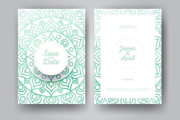 Convite de casamento de mandala