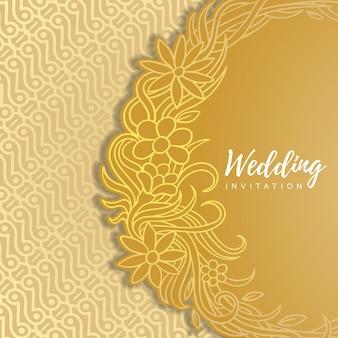 Convite de casamento de ouro