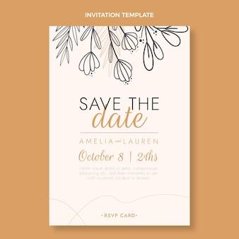 Convite de casamento desenhado à mão