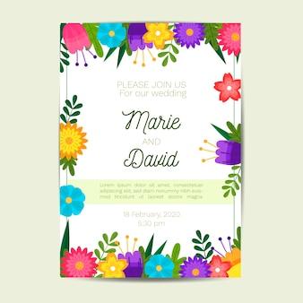 Convite de casamento desenhado de mão