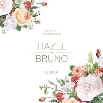 Convite de casamento design floral