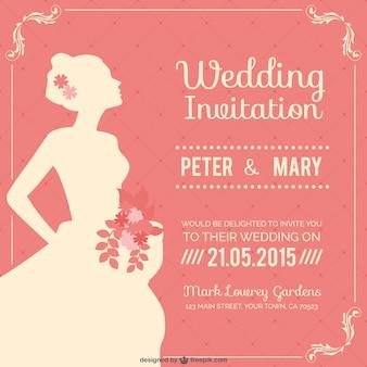 Convite de casamento do vintage