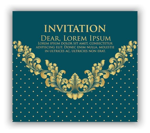 Convite de casamento e cartão de anúncio com arte de fundo floral. fundo floral ornamentado elegante. fundo floral e elementos de flores elegantes. modelo de design.