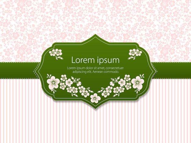 Convite de casamento e cartão de anúncio com arte finala de fundo floral