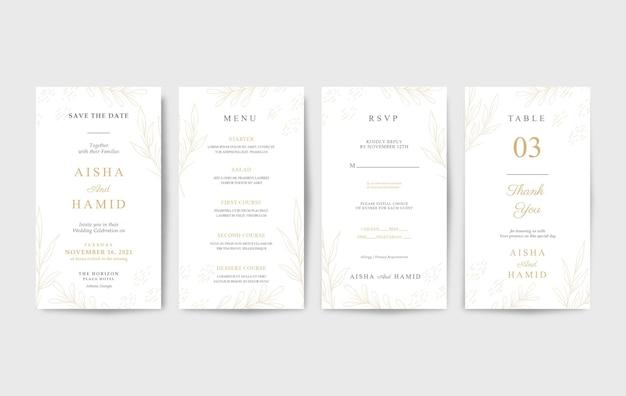 Convite de casamento elegante e luxuoso para celular