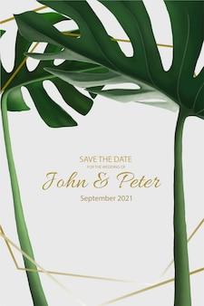 Convite de casamento elegante