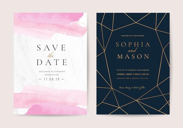Convite de casamento em estilo de luxo
