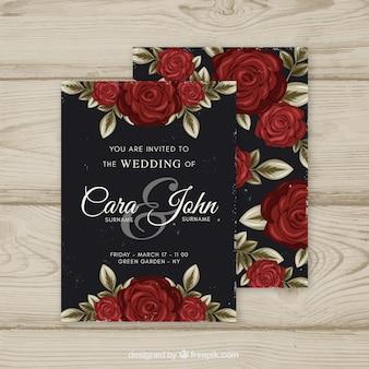 Convite de casamento em estilo vintage