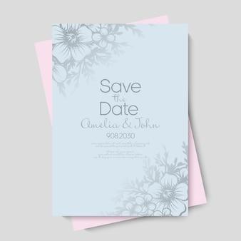 Convite de casamento floral.