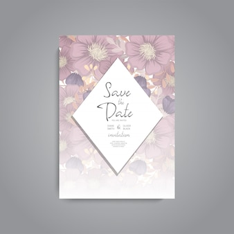 Convite de casamento. flores bonitas. cartão de saudação quadro, armação.