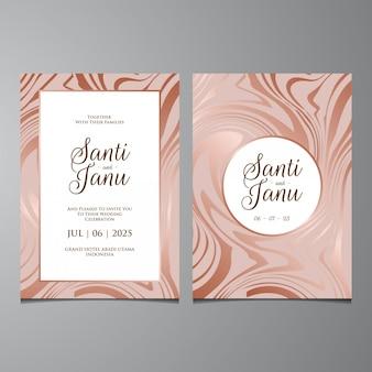 Convite de casamento, fundo líquido de mármore de luxo