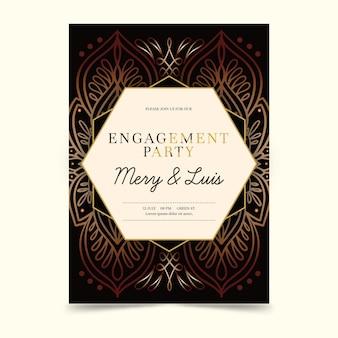 Convite de casamento indiano