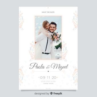 Convite de casamento lindo com foto