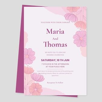Convite de casamento minimalista