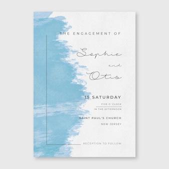 Convite de casamento mínimo em aquarela