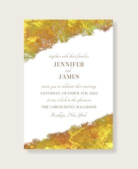 Convite de casamento ouro metálico