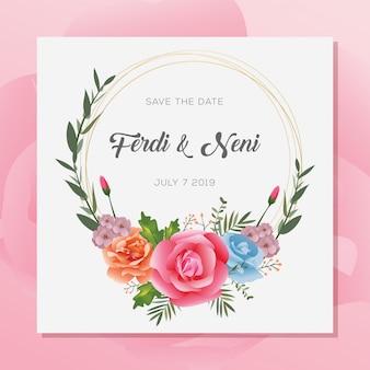 Convite de casamento premium