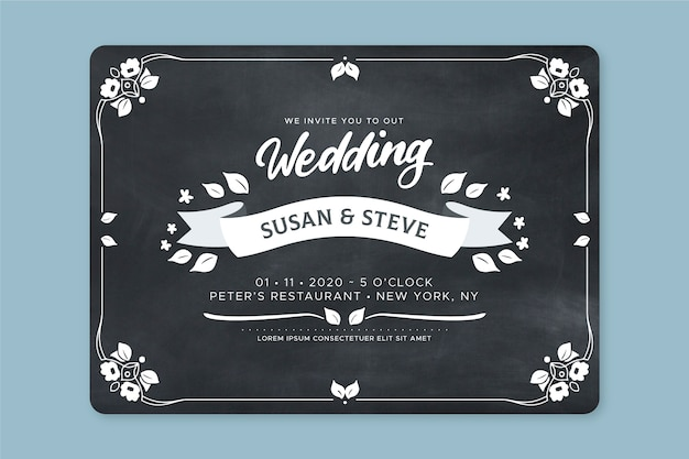 Convite de casamento retrô lindo