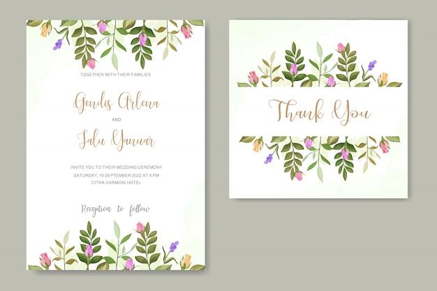 Convite de casamento rosa flor vector