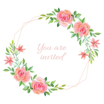 Convite de casamento rosa fundo