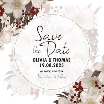 Convite de casamento. salve o cartão de data.