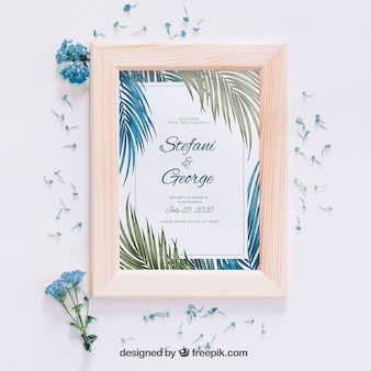 Convite de casamento tropical