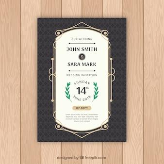 Convite de casamento vintage agradável
