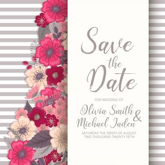 Convite de casamento.