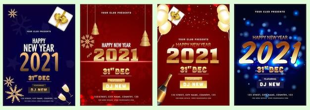 Convite de celebração de ano novo de 2021