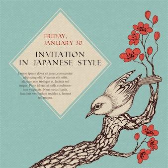 Convite de celebração em estilo japonês