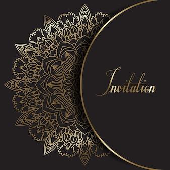 Convite de design decorativo mandala