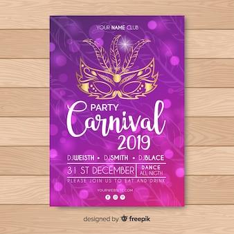 Convite de festa de carnaval
