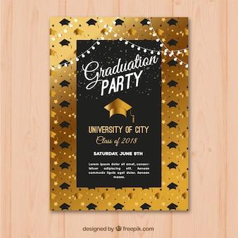 Convite de festa de formatura de luxo