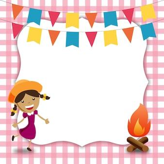 Convite de festa festa junina