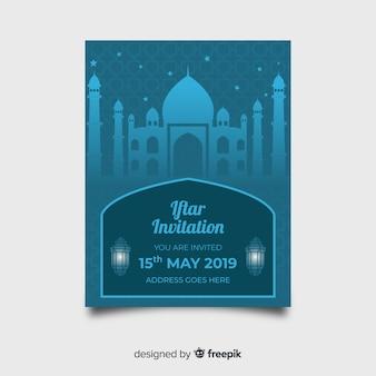 Convite de festa iftar do palácio plana