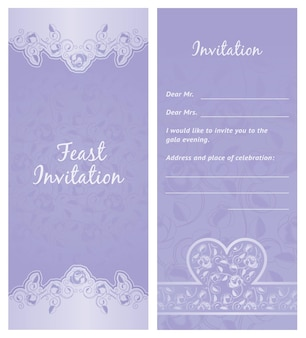 Convite de festa, plano de fundo